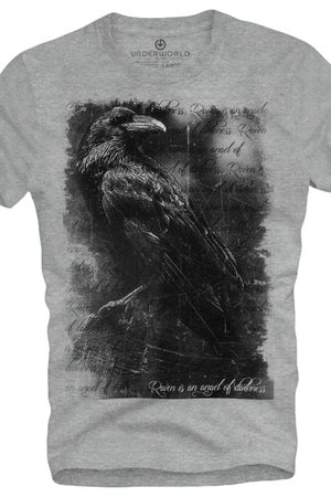 T shirt underworld ring spun cotton raven