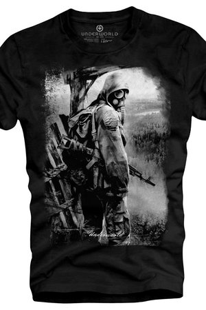 T shirt underworld ring spun cotton soldier
