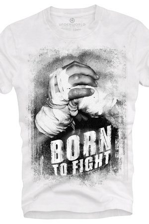 T shirt underworld ring spun cotton born to fight