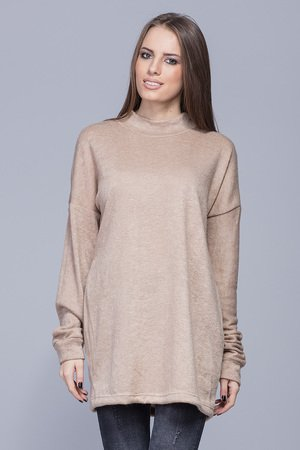 HARMONY  - Sweterek oversize beżowy  H009