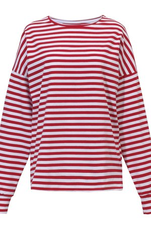 Oversized red stripes longsleeve