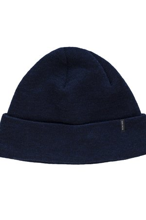 Merino wool beanie in navy limited
