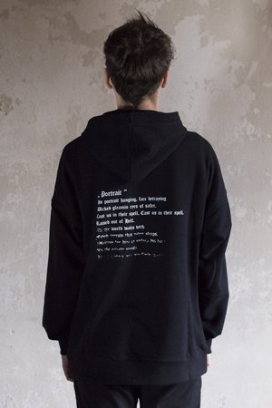 The Hive - PORTRAIT HOODIE IN BLACK
