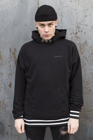 The Hive - OVERSIZED VARCITY HOODIE IN BLACK