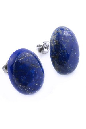 Brazi Druse Jewelry - Earrings Lapis Lazuli