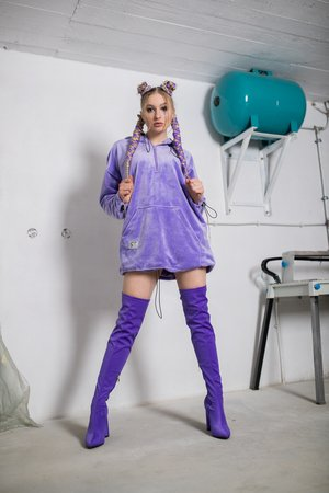 REST_FActory - Fluffy lilac dress