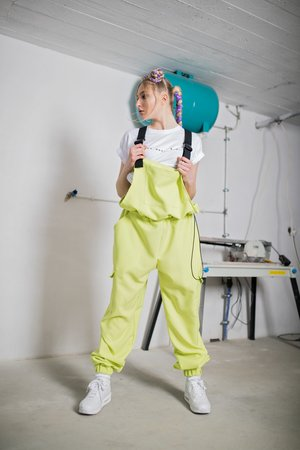 REST_FActory - Ogrodniczki Dungarees In Lime
