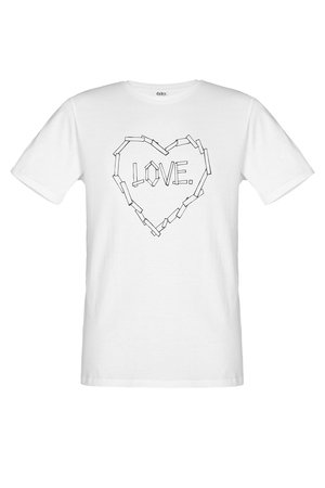 T shirt love bialy