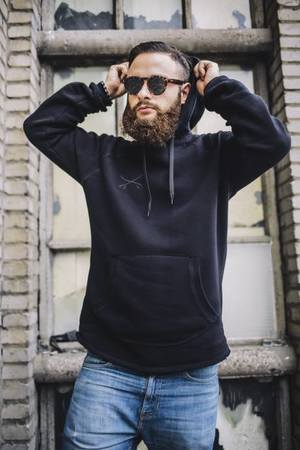 The Urban Beard - Bluza All Black