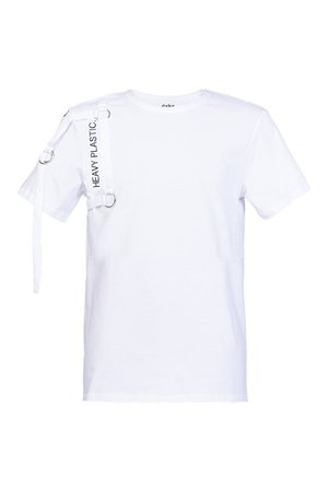 T shirt white heavy plastic pion