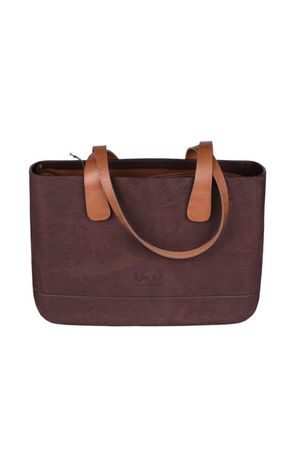 Doubleu bag - TORBA LARGE ROUGH BROWN