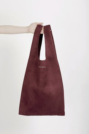 PROUDLY DESIGNED - HOBO BAG - Burgundowa