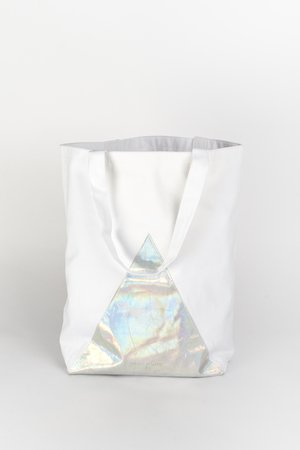 PROUDLY DESIGNED - HOLOGRAM BAG - Biała