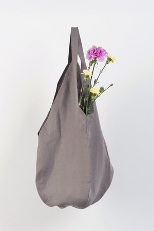 PROUDLY DESIGNED - LINEN BAG - Szara