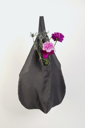 PROUDLY DESIGNED - LINEN BAG - Grafitowa