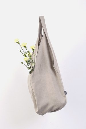 PROUDLY DESIGNED - LINEN BAG - Naturalna