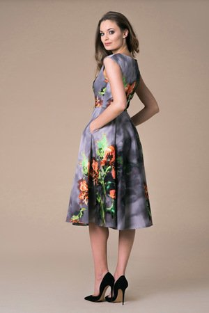 NAT Fashion Room - Sukienka Midi Azalea Bloosom Ombre