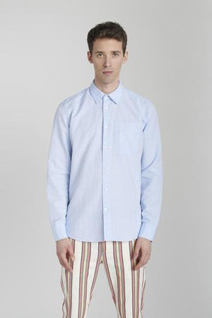 Delikatessen - SKY BLUE COTTON-LINEN SHIRT