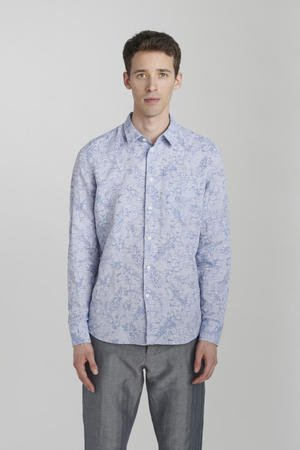 Delikatessen - SOFT BLUE LINEN-COTTON SHIRT