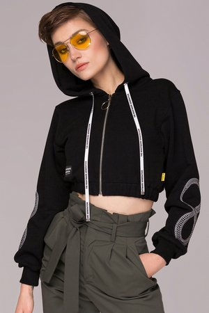 Animals Wave - Infinity Cropped Hoodie Bluza