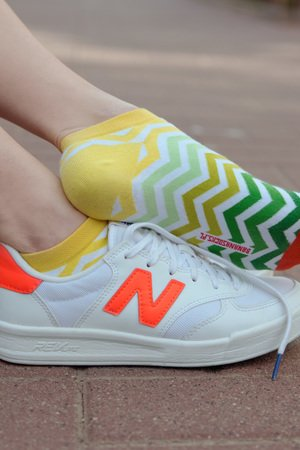 Banana Socks - BananaSocks - stopki Green Stripes