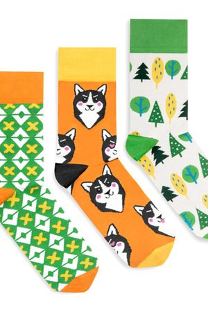 Banana Socks - BananaSocks - zestaw skarpet HUSKY