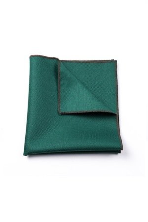 r3s men's accessories - POSZETKA LNIANA GREEN LINEN