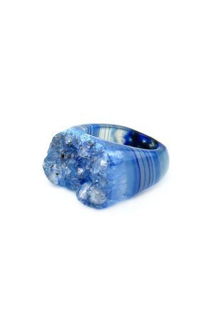 Brazi Druse Jewelry - InspiRING High Blue rozmiar 12
