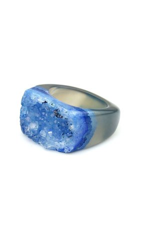 Brazi Druse Jewelry - InspiRING High Blue rozmiar 14