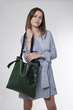 drops - torba green ribbon