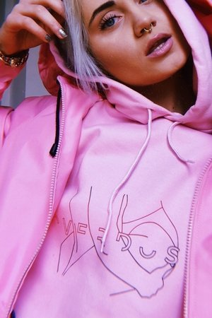 REST_FActory - overdose pink hoodie
