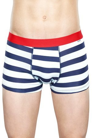 HAPPY SOCKS - Bielizna męska Happy Socks - Stripe Trunk (STR87-6000)