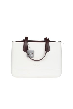 Doubleu bag - TORBA LARGE BASIC WHITE HANDLE DARK BROWN