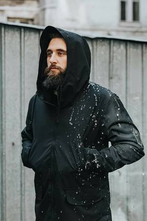 The Urban Beard - Parka All Black