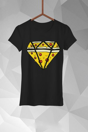 FailFake  - T-shirt Pizza Diamend Damski