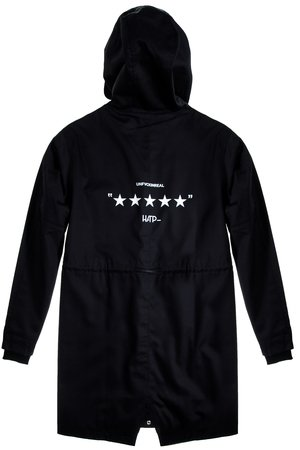 HARP TEAM - Kurtka Parka Unfvckinreal Black