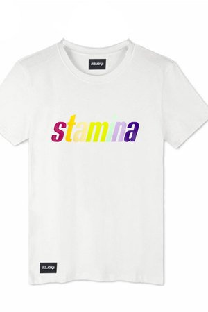 MAJORS - RAINBOW TEE WHITE